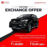Anaamalaistoyota On Twitter Exchange Your Old Toyota Car And Upgrade To The True Suv Toyota Fortuner Toyotafortuner Anaamalaistoyota Toyota Upgradecar Buynewcar Exchangecar Carexchange Usedcars Toyotautrust For More Details Call Us On 0422