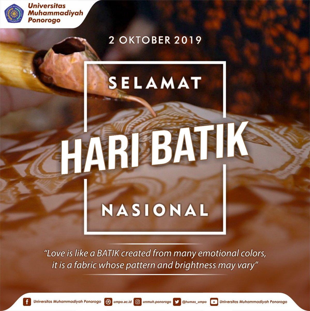 Univ Muhammadiyah Ponorogo On Twitter Love Is Like Batik