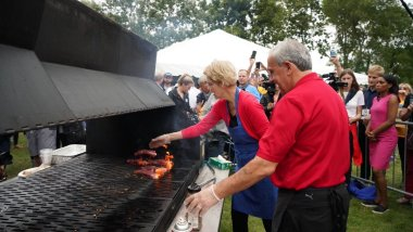 Image result for polk county steak fry elizabeth warren