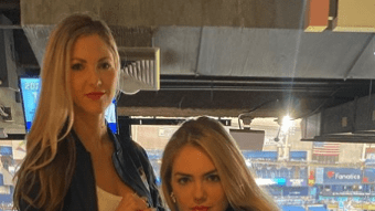Amy Cole & Kate Upton Recreate Sports Illustrated Cover Their Husbands Were On