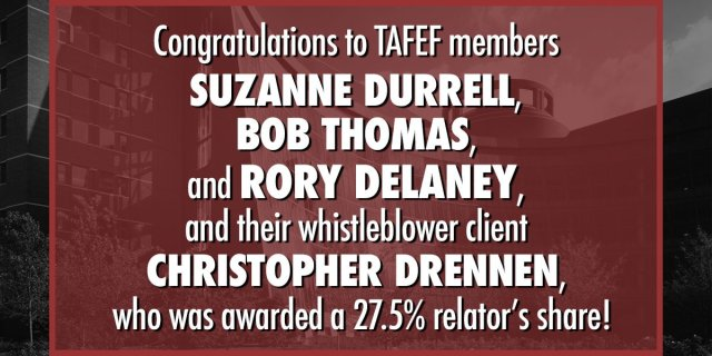 Image for the Tweet beginning: Congrats to TAFEF members Suzanne