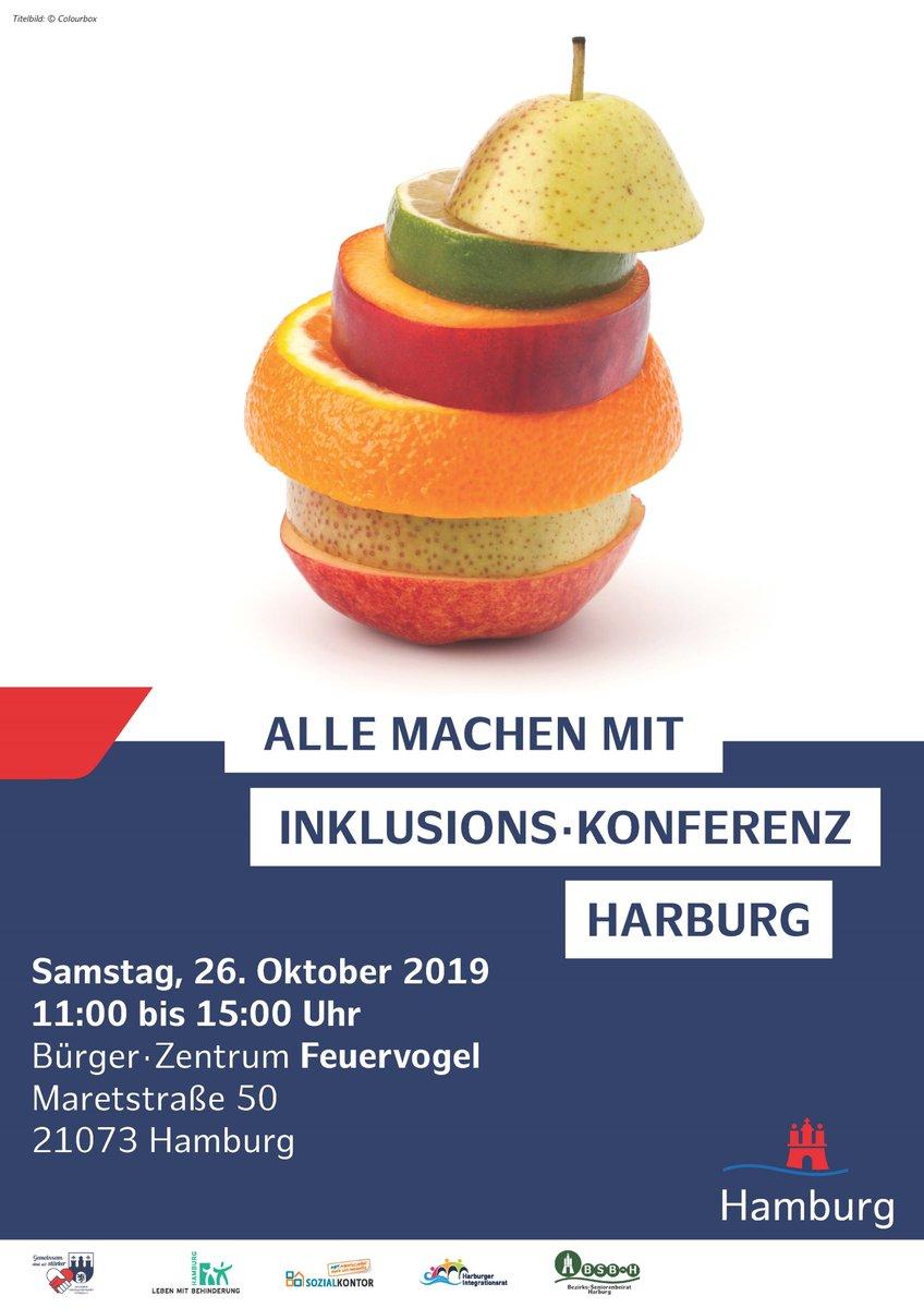 """test Twitter Media - Unter dem Motto: """"Alle machen mit"""" findet am 26.10.2019 im Bürgerzentrum Feuervogel die erste Inklusionskonferenz Harburg statt. Alle Infos in der Pressemeldung 👉 https://t.co/KOxUXD6cOg #Harburg #Inklusion #Veranstaltung 📸: @BAHarburg https://t.co/68WbdmWVPW"""