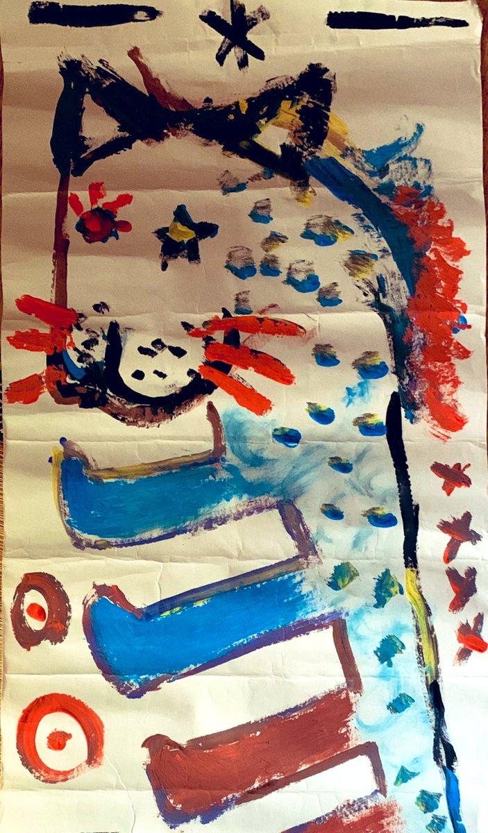 test ツイッターメディア - ひさしぶりに 広げてみたお宝💎 この絵描いた人 ビック役者さんなんだよ ダルセーニョの時に ジャンケンで 次男が勝っていただいて サインもくださったのよね 私のも掛け軸風にして しまってありまする  もう5年も前だね 大雪が降ったんだよね この舞台の始まるころ しかも2月22日( 笑 ) https://t.co/7PXzMFSk3x
