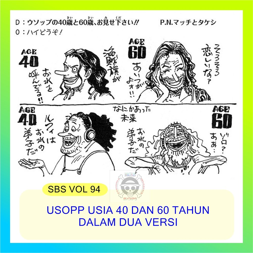 22/04/2021· how old is luffy one piece at 40 and 60 years old 2021 when we first see him and he is eventually saved by shanks, luffy's age is only 7 years old. Weareone On Twitter Oda Sensei Kembali Melanjutkan Gambar Karakter One Piece Di Usia 40 Dan 60 Dengan Dua Kondisi Yang Berbeda Yaitu Normal Life Dan Unlucky Life Sbs Pic By Redon