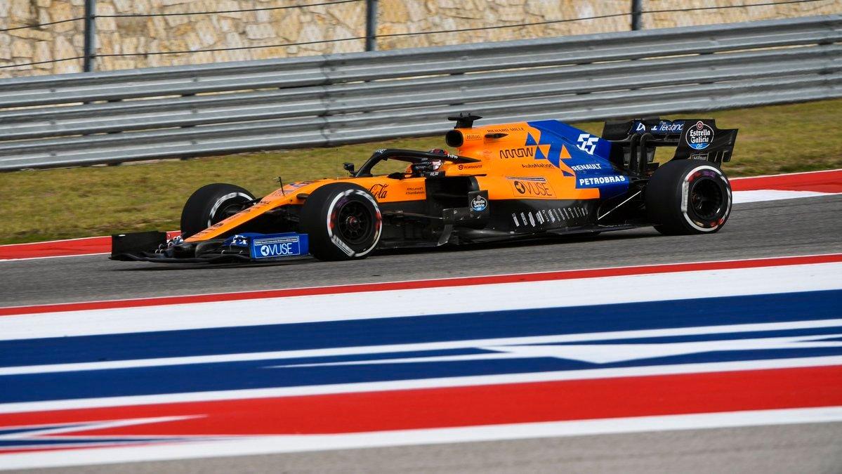 Sainz durante la carrera en Austin