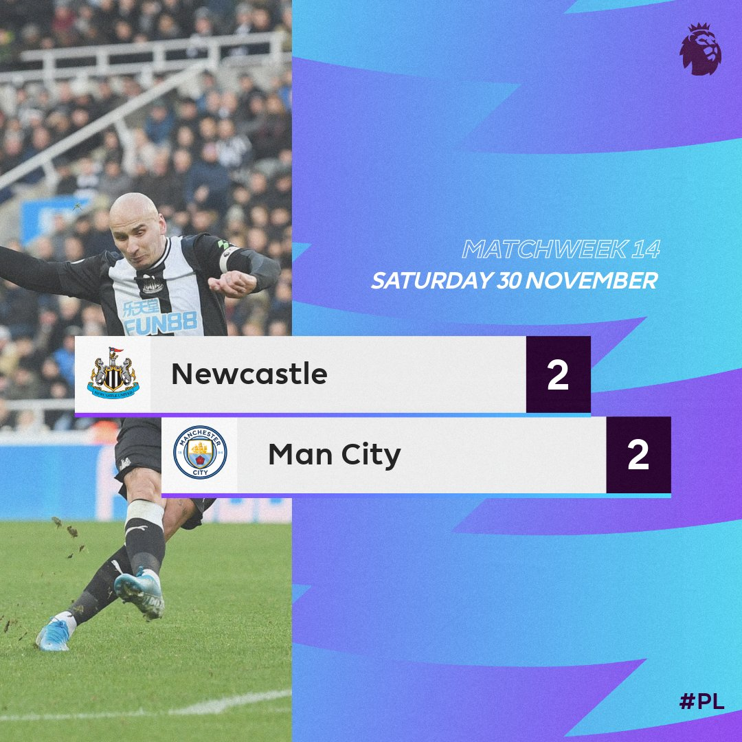 Image result for newcastle 2-2 man city