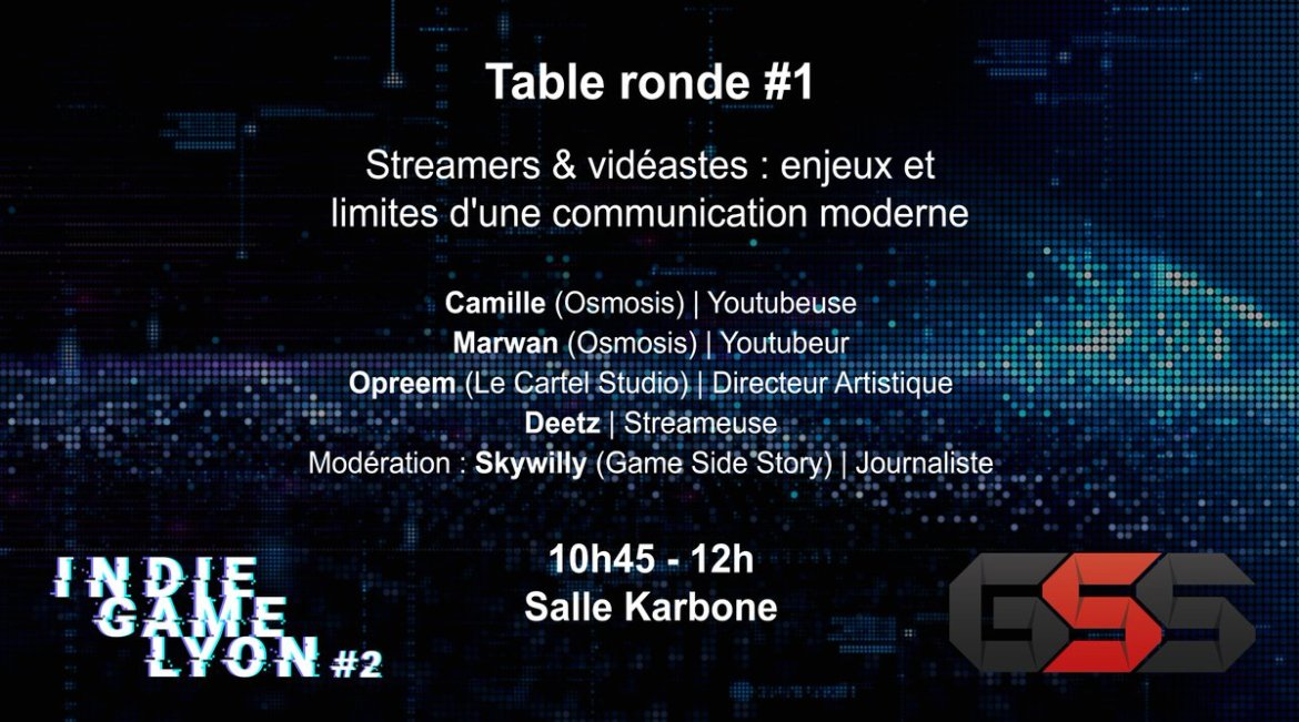 Table ronde Indie Game Lyon Osmosis Opreem Deetz