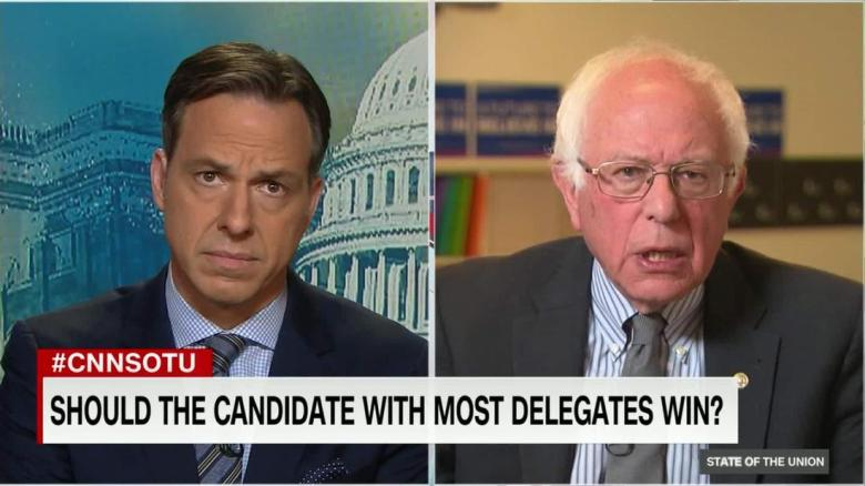 In 2016, @SenSanders did not think @HillaryClinton's lead in pledged delegates meant she should get the nomination at the Democratic Convention as he prepared to argue to superdelegates to opt for him since he was, in his view, more electable.