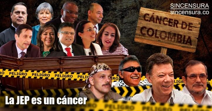 Resultado de imagen de la jep es un cancer