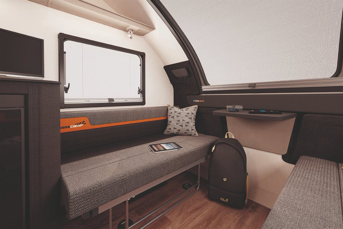 Swift Basecamp V Twitter Basecamp 4 Special Edition Has Been Cleverly Designed To Remain Compact Additions To This Optimised Layout Include Bunk Beds Foldaway Dinette Table Larger Kitchen Surface Space And Additional
