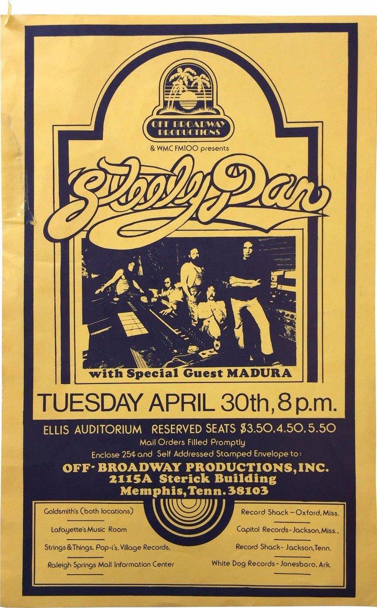 steely dan tour poster 74 ellis