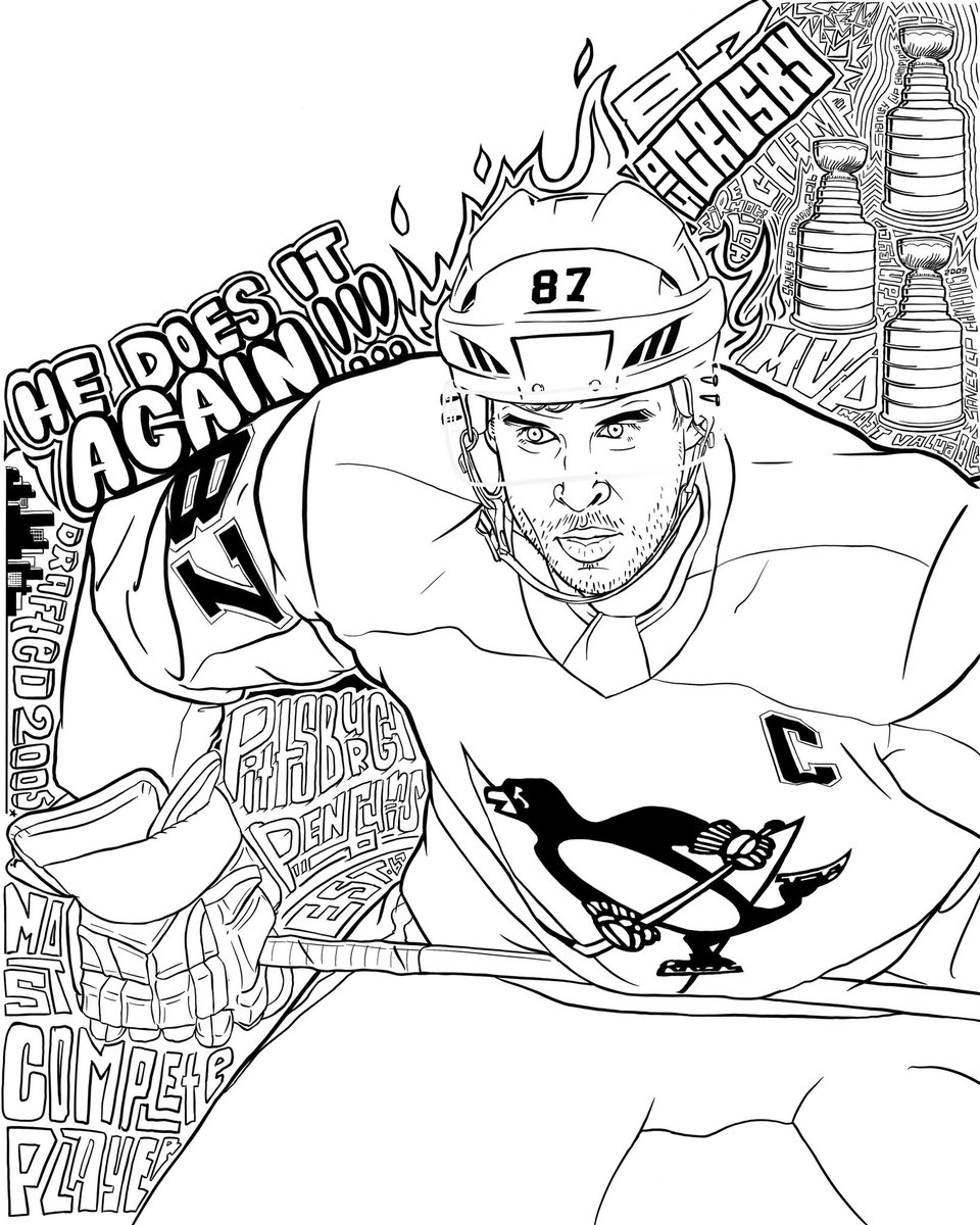 Pittsburgh Penguins On Twitter Color It In For Us Printable Page Https T Co Nfryslqvx9