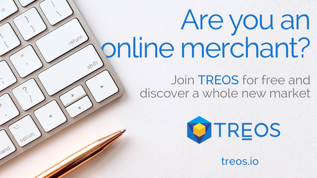 ATTENTION ALL ONLINE MERCHANTS! Join #TREOS today for free and discover a huge n... 2