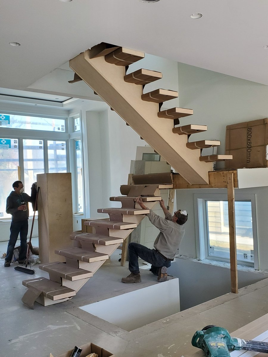 Bh Wood On Twitter A Nice Mono Stringer In This Stair In | Wood Mono Stringer Stairs | Central | Arch | Hardwood | Glass | Timber