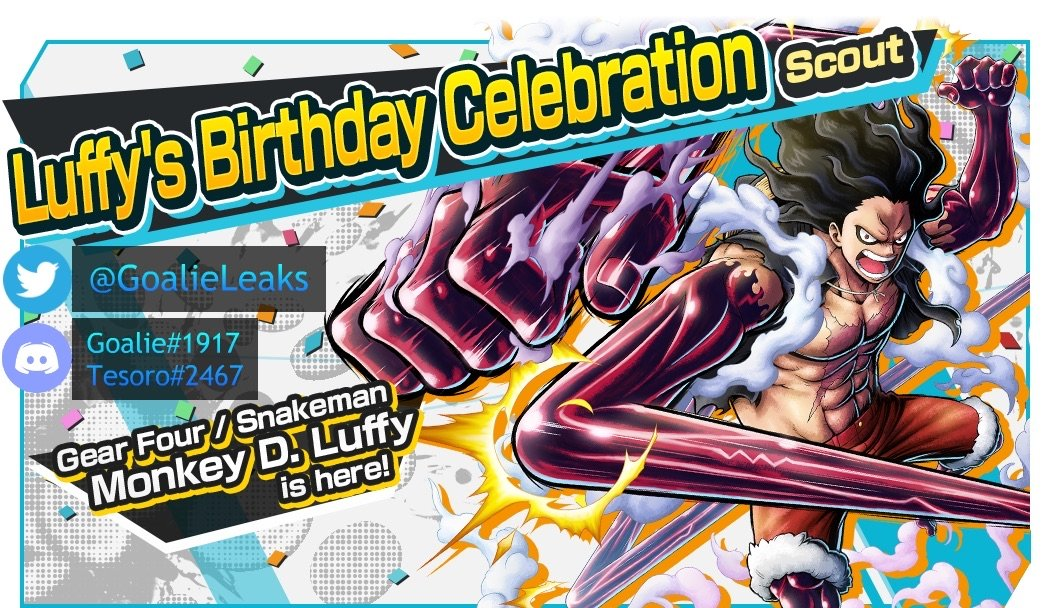 Jam berapa kelompok topi jerami mulai tidur? One Piece Bounty Rush Leaks Info On Twitter Welp Guess They Are Saving The Character Preview For Later On We Ll Get More Info Tomorrow When They Announce The Luffy S Birthday Campaign Https T Co U7n06vxeth