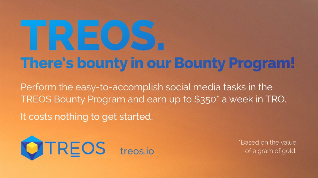 Need extra income in these lean times? Welcome to the #TREOS Bounty Program. Joi... 9