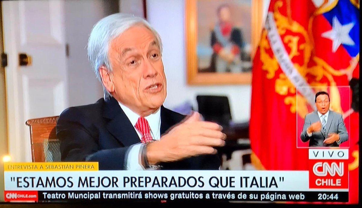 """Cooperativa on Twitter: """"Piñera: Como ningún país, """"Chile tampoco estaba  preparado, tenemos que ser humildes en reconocerlo"""" #CooperativaEnCasa  https://t.co/JnCUhGKPIo… https://t.co/FxuCjKGNjm"""""""