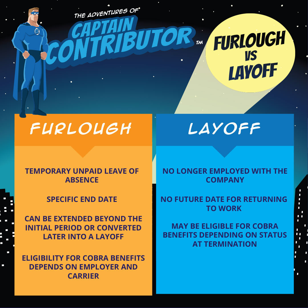 #TipTuesday: What's the difference between being furloughed and being laid-off?  #COBRA #Layoff #Furlough