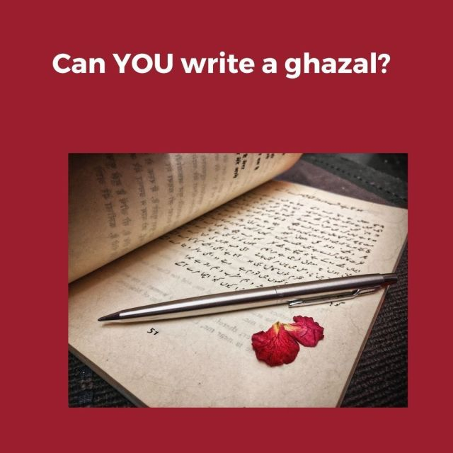 "South Asian Arts-uks tweet - ""Can YOU write a #Ghazal ? 📜 The"