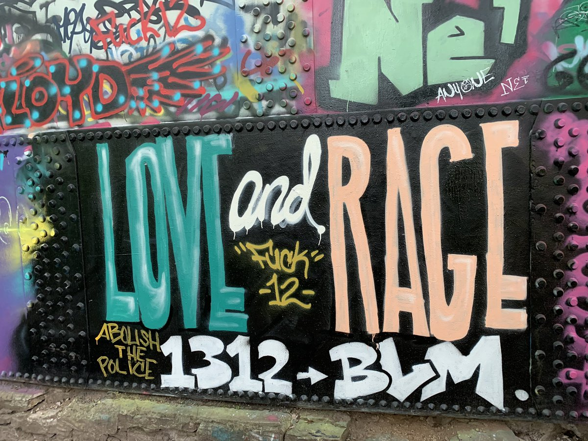 """Will Cleveland on Twitter: """"Some more BLM-themed graffiti. Much ..."""