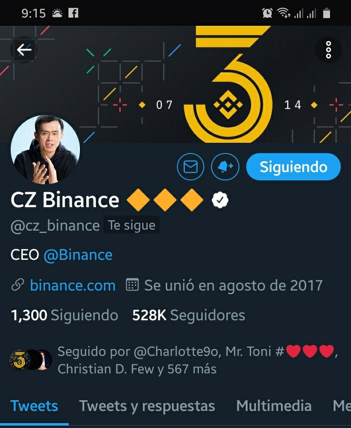 oH !!! my god ... thanks for following me @cz_binance it's amazing to check your... 16