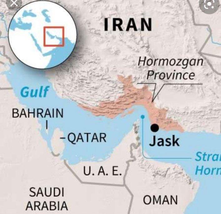 """Mohamed Moawad محمد مُعوّض on Twitter: """"أكثر المشروعات خطورة على أمن دول المنطقة والولايات المتحدة بحسب نيويورك تايمز هو مقترح انشاء ميناء وفق الشراكة في بندر جاسك المطل على مضيق هرمز بالقرب"""