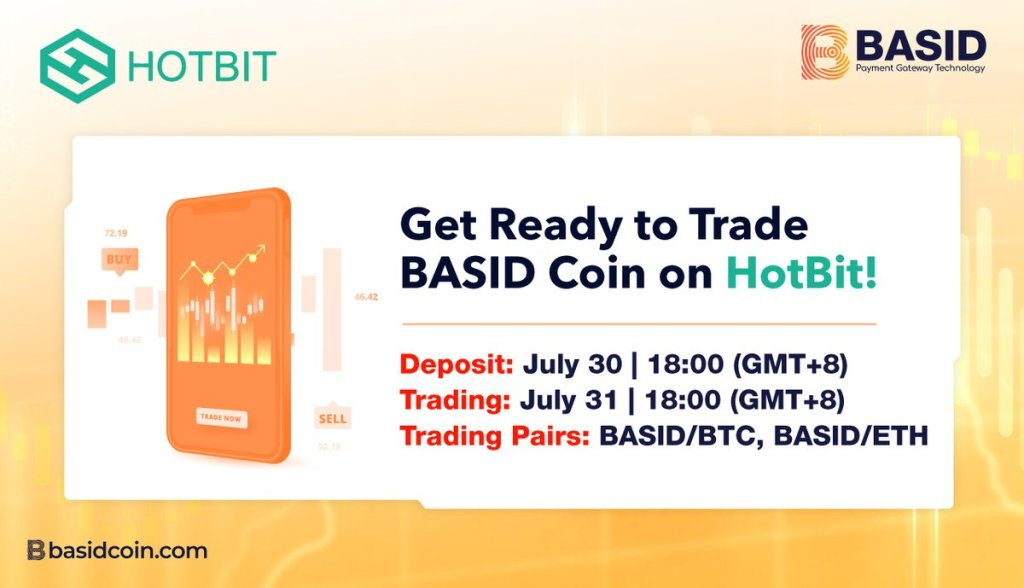 Exciting news, #BASID users!  #BASIDCoin is now listed on #HotBit.  Deposit is a... 22
