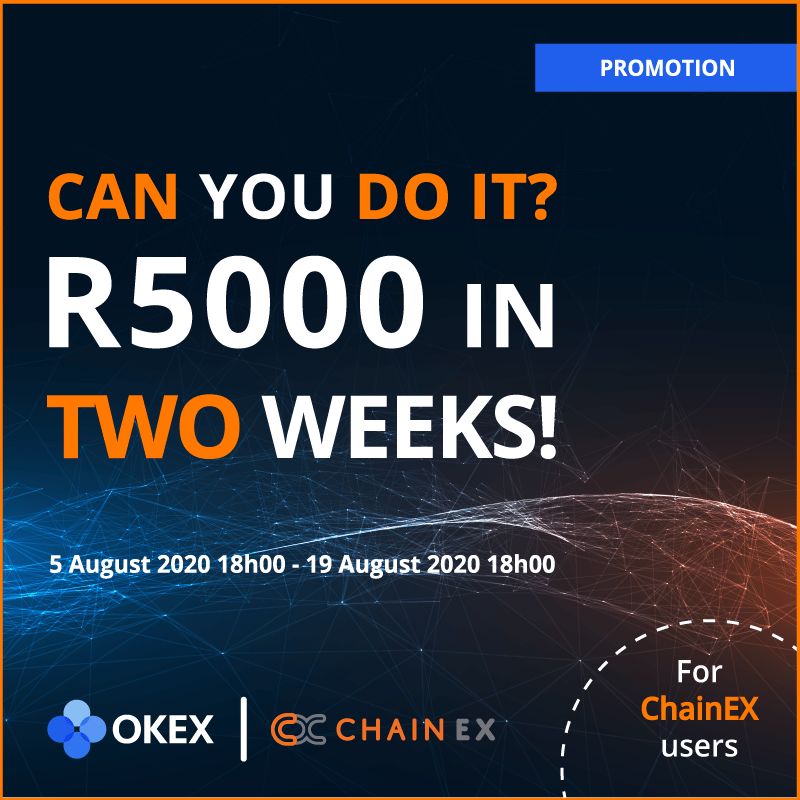 In order to enter the competition, you need to be a registered ChainEX user with... 13