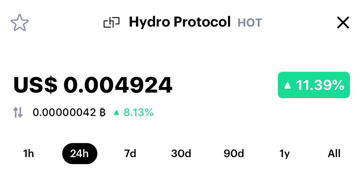 @protocol_hydro Ticker - $HOT (Not holochain) Exchange - @HuobiGlobal   Converte... 2