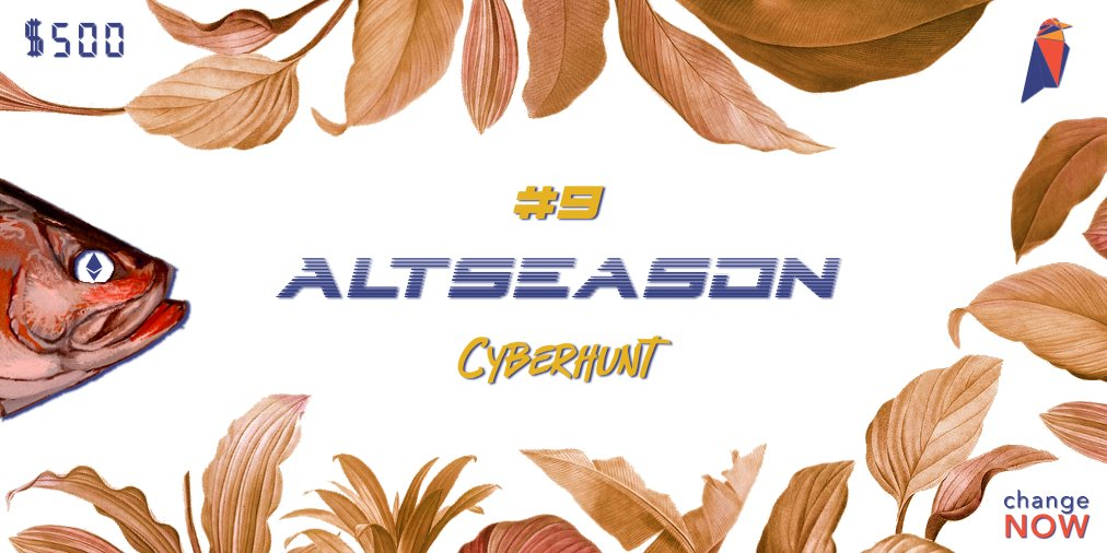 It's Part 9 of the #AltseasonCyberhunt! Today we'll be trying to catch @Ravencoi... 2
