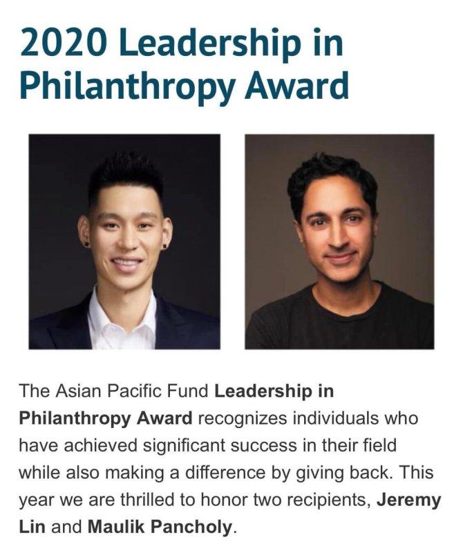 RT @kwawa_hsuk302 Congrats to @JLin7 🙌 2020 Leadership in Philanthropy Award!  https://t.co/zkil4stapY