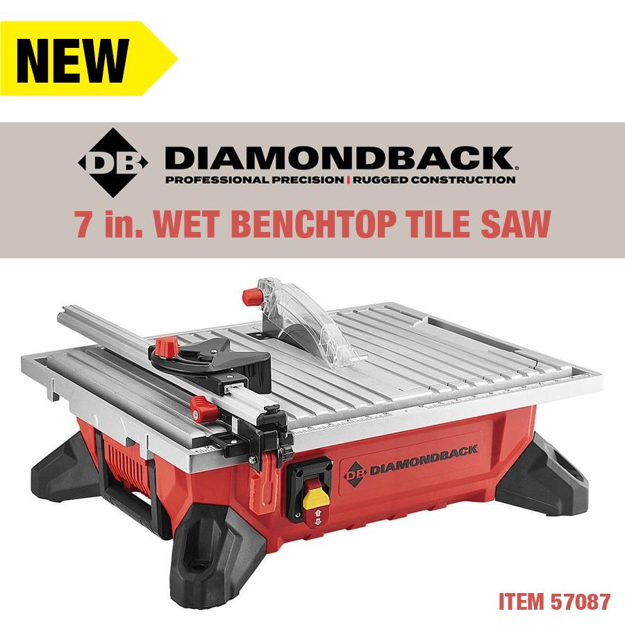 diamondback 7 in wet benchtop tile saw