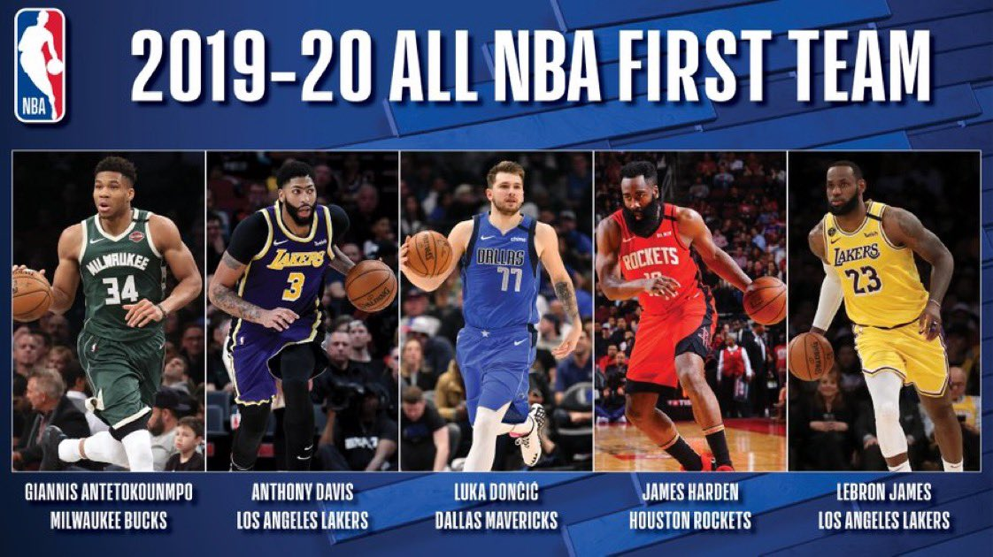 "Chris Haynes on Twitter: ""NBA All-First Team is announced.… """