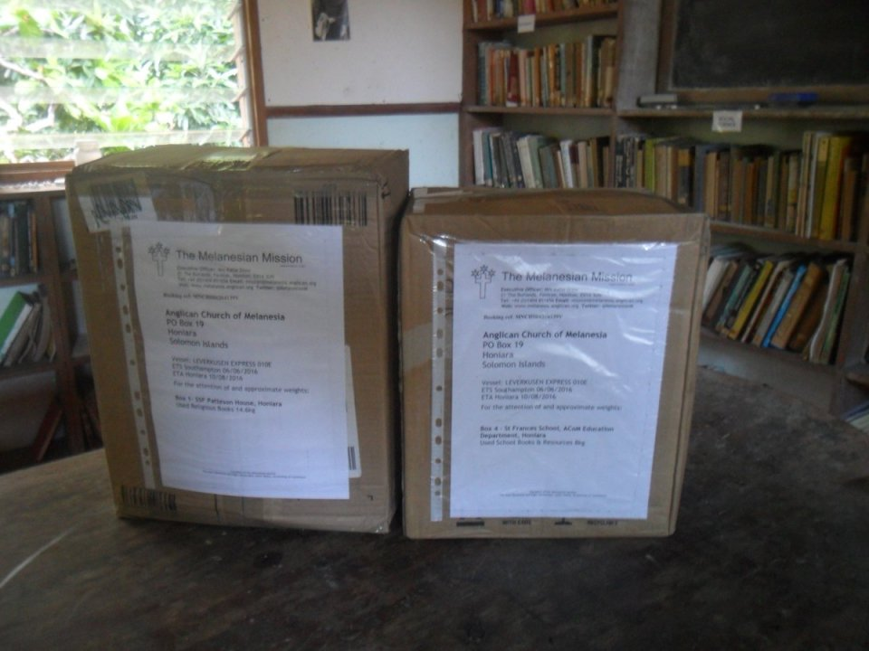 Shipping of charity goods on its way to the Anglican Church of Melanesia in the Solomon Islands, ETA Feb 2021. Many thanks to the lovely people at…
