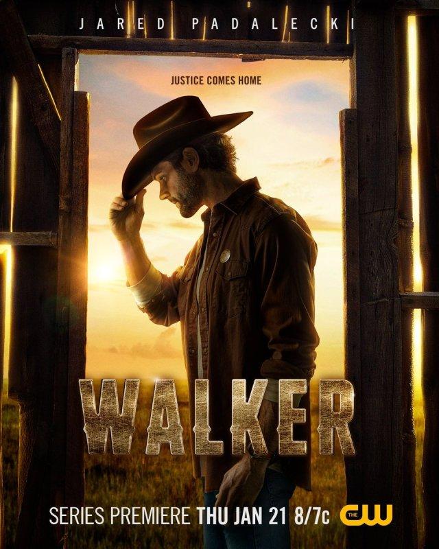 """Séries Brasil a Twitter: """"Jared Padalecki no pôster oficial de Walker, nova  série da CW que estreia dia 21 de janeiro.… """""""