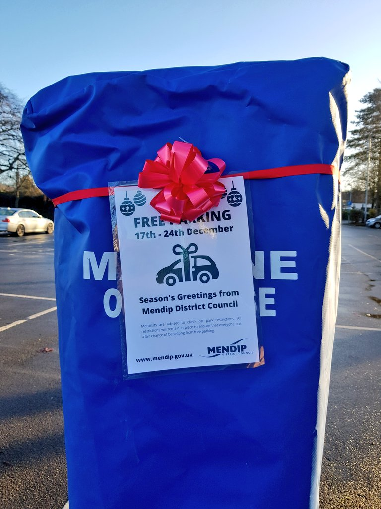 Free parking in council car parks in Frome this week 🎄🎄🎄