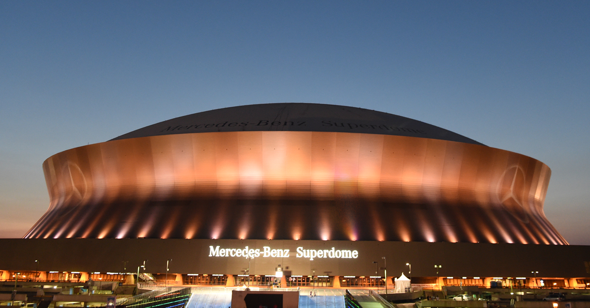 While the stadium is owned by the state, it is operated by amb group, the parent organization of the falcons and atlanta united. Caesars Superdome On Twitter Tonight The Mercedes Benz Superdome Will Be Lit In Amber As Part Of A National Evening Of Remembrance Recognizing Those Lost To Covid 19 Throughout The Us Https T Co Izc0c33iab