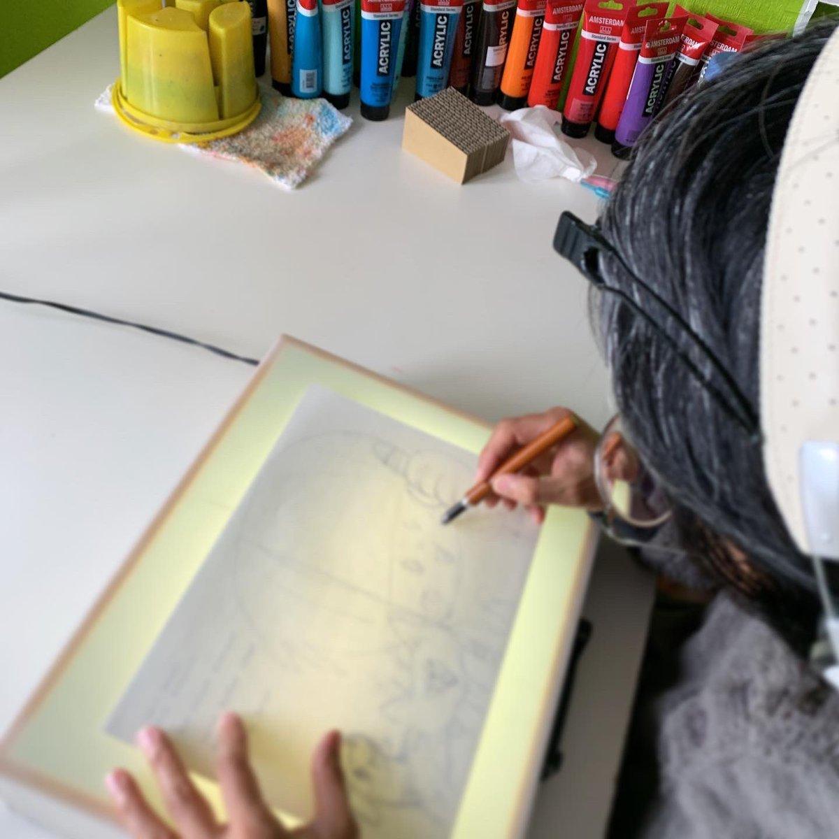 test ツイッターメディア - 「いぬのきもち」「ねこのきもち」絵本部さんと共同制作の絵本。タイトルも決まって着彩に入りました。ラストスパートーーー! https://t.co/812g1jdNGc