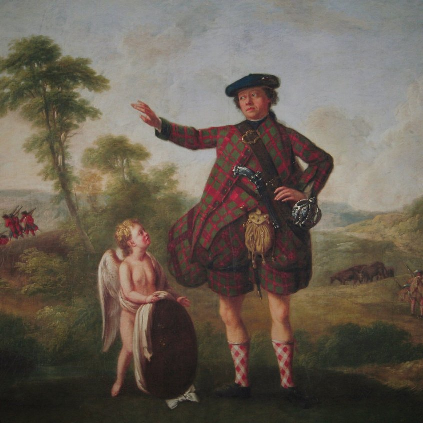 C18th portrait of Dr. Stuart Threipland after the Battle of Culloden, by William Delacour (1700-1768), a French born painter who was the first master of the Trustees' Academy in Edinburgh in the 1760s. This image copied from an old copy of the original which is held c/o National Galleries of Scotland (Duff House)