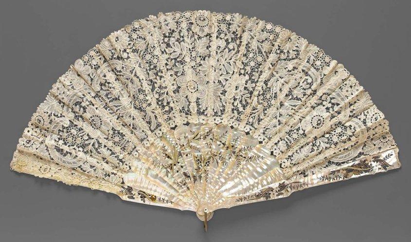 Fan of Brussels bobbin lace 19th century  MFA Boston - Brussels Bobbin lace