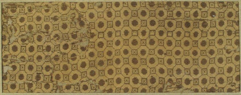 11th century byzantine damask, Met Museum.