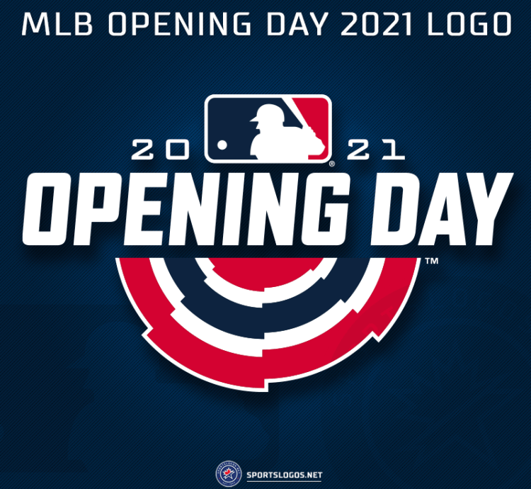 """Chris Creamer on Twitter: """"#MLB Opening Day 2021 is just four weeks away!  Here's the logo they'll be using this year, following the same template now  in use since 2018 A look"""