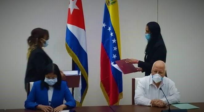 """Cancillería de Cuba on Twitter: """"El viceprimer ministro de #Cuba, Ricardo  Cabrisas Ruiz y la vicepresidenta ejecutiva de #Venezuela, Delcy Rodríguez  Gómez, presidieron la XXI sesión de la Comisión Intergubernamental del  Convenio"""