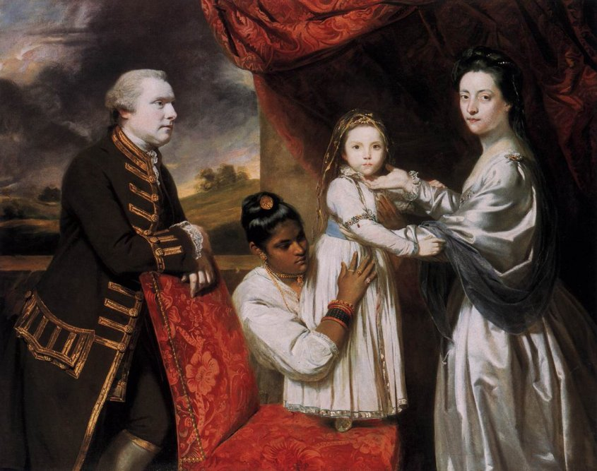 George Clive and his family with an Indian maid, by Joshua Reynolds, 1765 - Public Domain