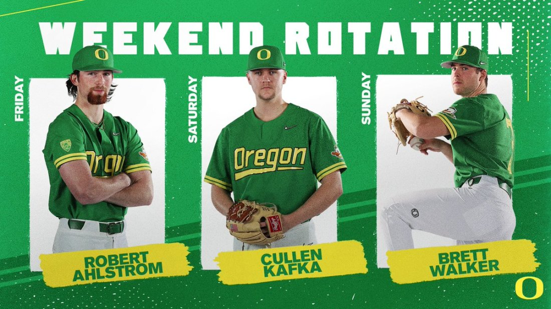 test Twitter Media - Big series in the desert this weekend. No. 13 Oregon at No. 21 Arizona. Going lefty, righty, righty on the bump. #GoDucks https://t.co/TQ2QKz3yJr