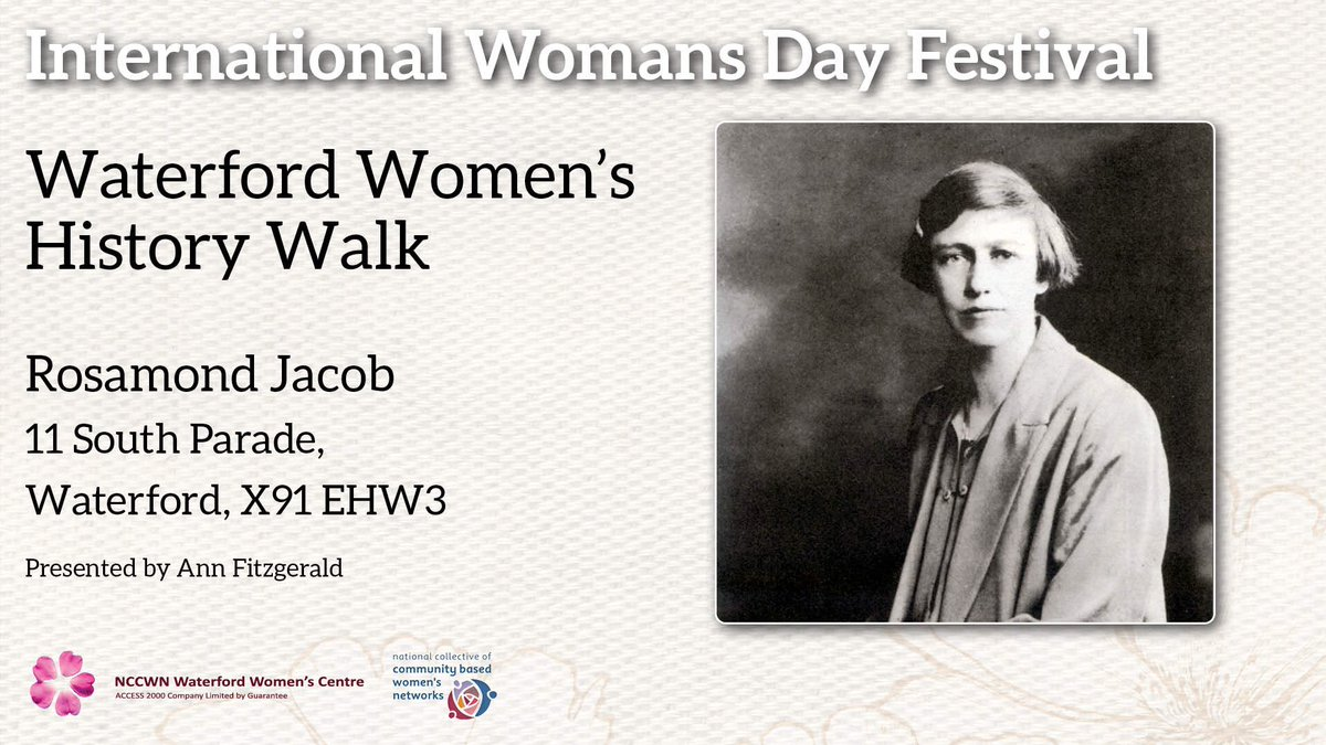 Check out the @watwomcen Waterford Women in History talks on April 13th #CreativeWaterford