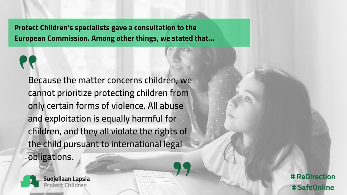We need to make sure that the #ChildRights & Child Rights for protection are always our first priority!  Follow us @SuojellaanLapsi & read more about our advocacy work from @OvaskaAnna 's blogpost related to @coe consultation #AgainstCSE  Let's #ProtectChildren 💚 #SafeOnline