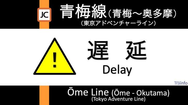 test ツイッターメディア - 【青梅線(青梅〜奥多摩) 下り線 遅延情報】 東京アドベンチャーライン・青梅線は、青梅〜宮ノ平での動物衝突の影響で、青梅〜奥多摩の下り線の一部列車に最大20分程度の遅れがでています。 https://t.co/pqwdhNlTaj