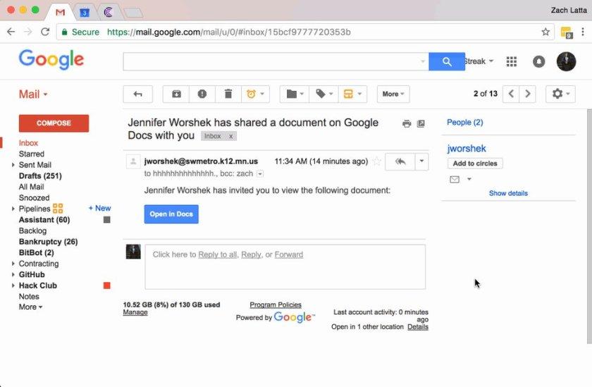 Fake Google Email