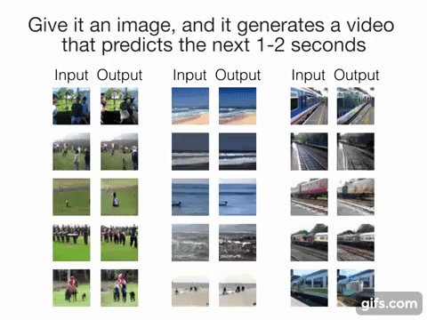 VIDEO: Deep-learning AI creates videos of the future from a still image: